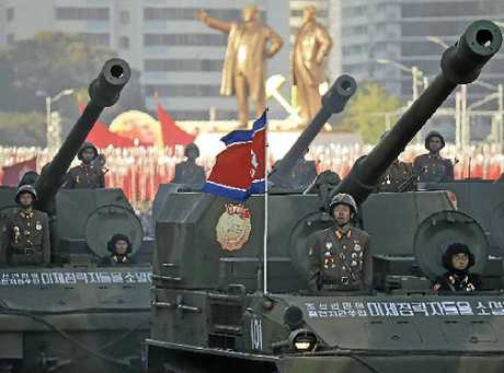 SHOWY: A military parade in Pyongyang on October 10 last year marked the 70th anniversary of North Korea's ruling party.