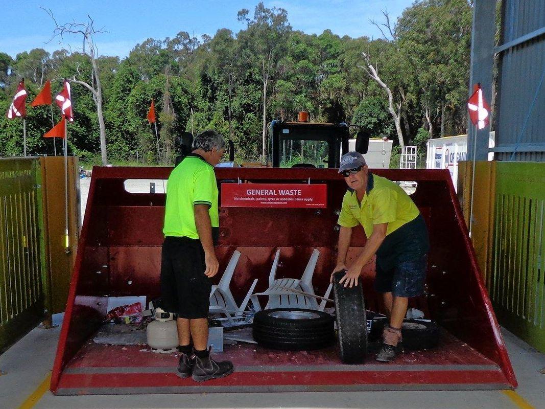 Iluka waste depot staff at work.