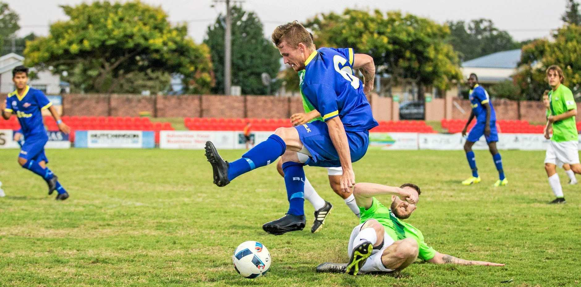 JOURNEYMAN: South-West Thunder's Jackson Haussler embarks on a weekly interstate road trip to follow his football dreams