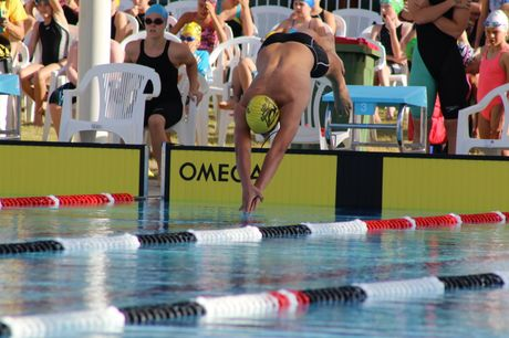 Aidan van Ee broke eight records out of the 10 events he had entered during Lockyer District High School's swimming competition. Photo Tom Threadingham / Gatton Star