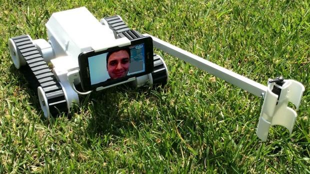 Matt Walker is Robot Dad. Photo: Matt Walker
