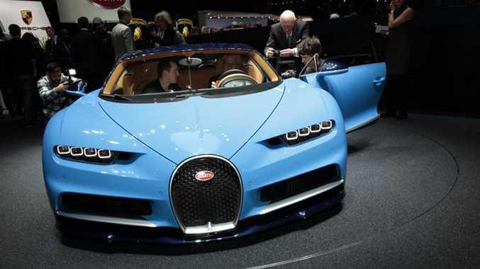 Bugatti Chiron at the 2016 Geneva Motor Show. Photo: Contributed.