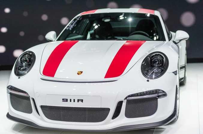 Porsche 911R at the 2016 Geneva Motor Show. Photo: Contributed.