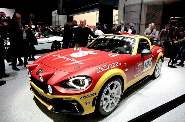 Abarth 124 Rally at the 2016 Geneva Motor Show. Photo: Contributed.