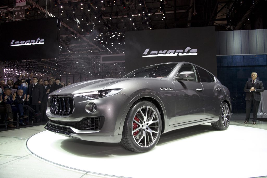 Maserati Levante SUV at the 2016 Geneva Motor Show. Photo: Contributed