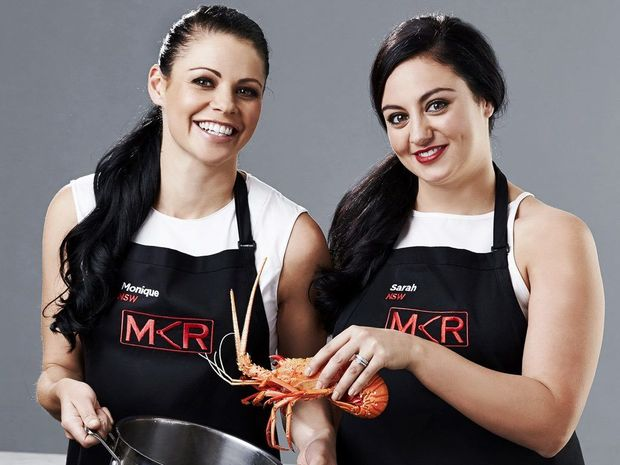 My Kitchen Rules contestants Monique and Sarah.
