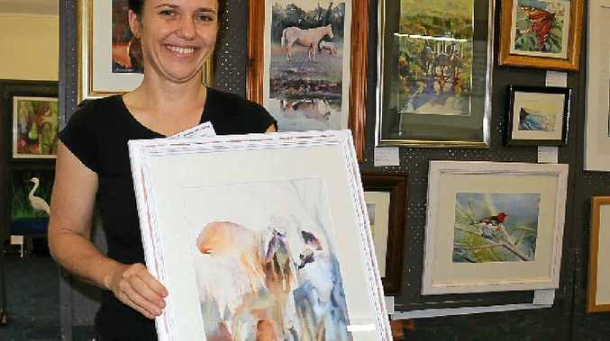 AWARD WINNING: Natasha Hodgson's Brahman painting is one of the works on display at The Condensery until April 3.