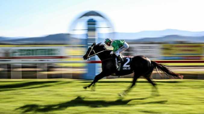 Wonderful Jester winning race five at the Tweed River Jockey club in Murwillumbah in a meet last year.