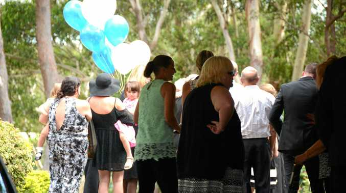 Friends, family and comrades say farewell to Norman Olsen at a touching service at tweed Heads Crematorium on Friday morning.