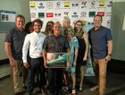 Lee Winkler and fellow boardriders treat the Simon Anderson Award with tender loving care.