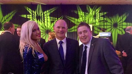 Tamara Candy with former Queensland Premier Campbell Newman and MP Neil Symes