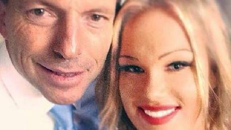 Tamara Candy with Tony Abbott.