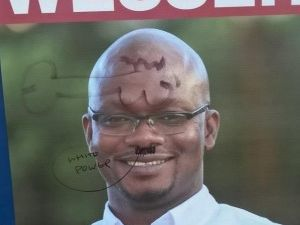 African candidate hit by vile racist attack