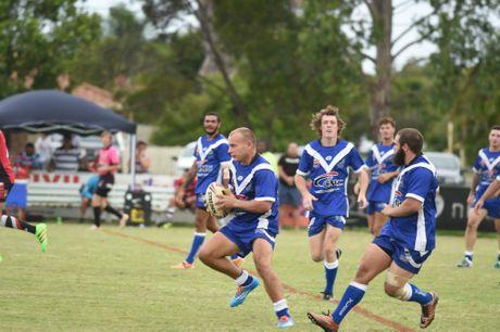 Wallaroos lock Chris Ahon. Bundaberg Rugby League Round 1 at Stafford Park, Hervey Bay. Photo Matthew McInerney / Fraser Coast Chronicle
