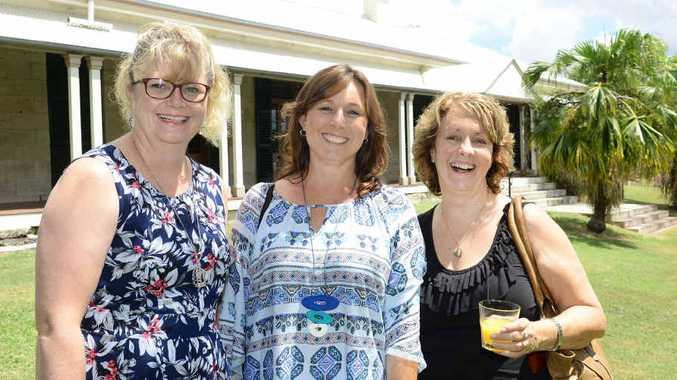 PERFECT AFTERNOON: Attending the launch of Queensland Women's Week were Melissa Horton of the Floresco Centre, Tricia Van Engelen of Centacare Community Services and Karen Prestidge of Lifeline.