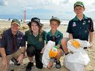 Clean up Australia Day, Alexandra Beach. Andrew Strange, Matt Elgers, Marshall Kusy and Ben Rowbottom.