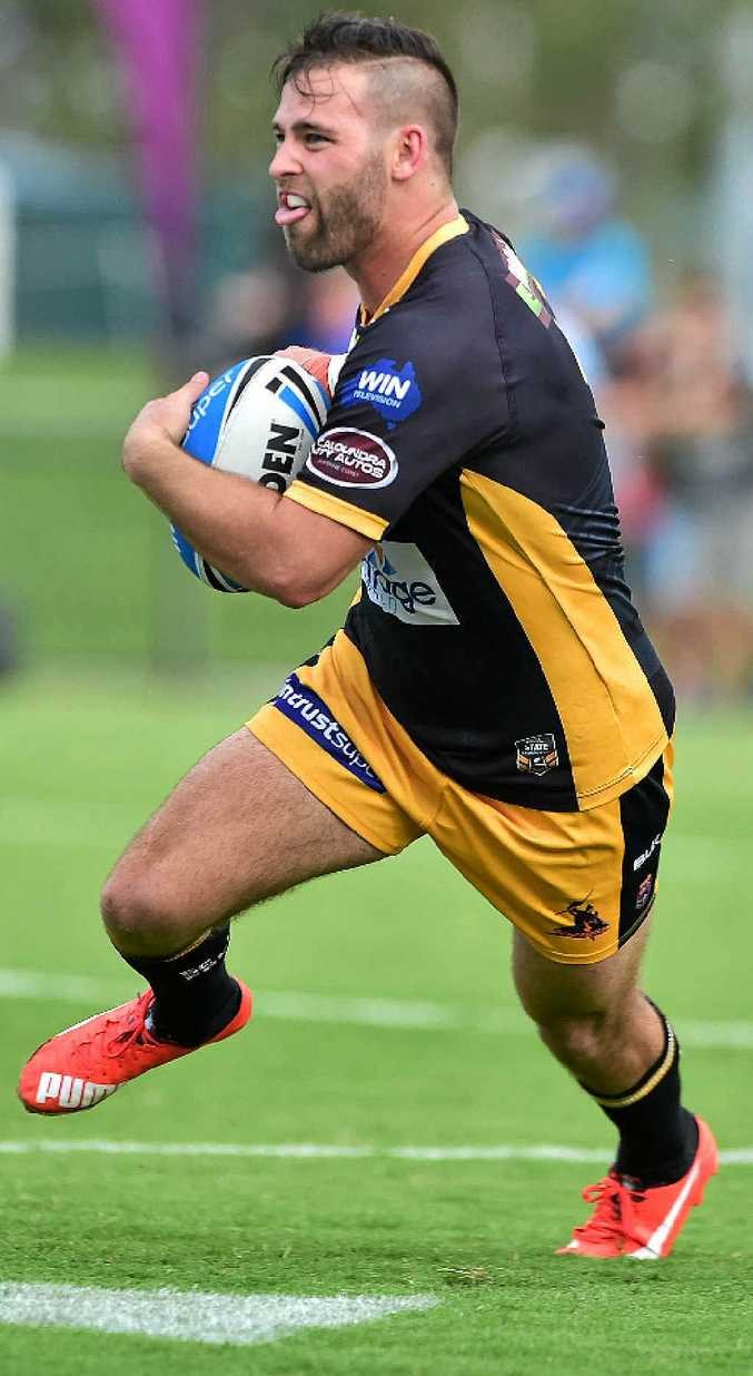 HARD TO BEAT: Rowan Klein in action for the Sunshine Coast. The Falcons have been tipped to soar by Intrust Super Cup player of the year Pat Templeman.