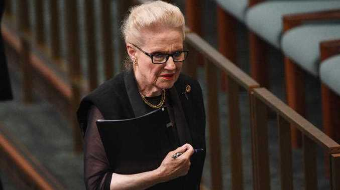 Former speaker Bronwyn Bishop leaves after Question Time at Parliament House in Canberra on Wednesday, March 2, 2016.