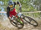 Jared Graves takes second place in the  Mens DHI final at the Subaru National Mountain Bike Series in Toowoomba . Sunday 6 Mar , 2016.