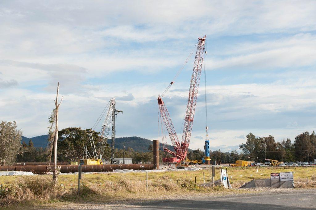 Construction of new macksville bridge. 03 SEPT 2015 Photo Trevor Veale / Coffs Coast Advocate