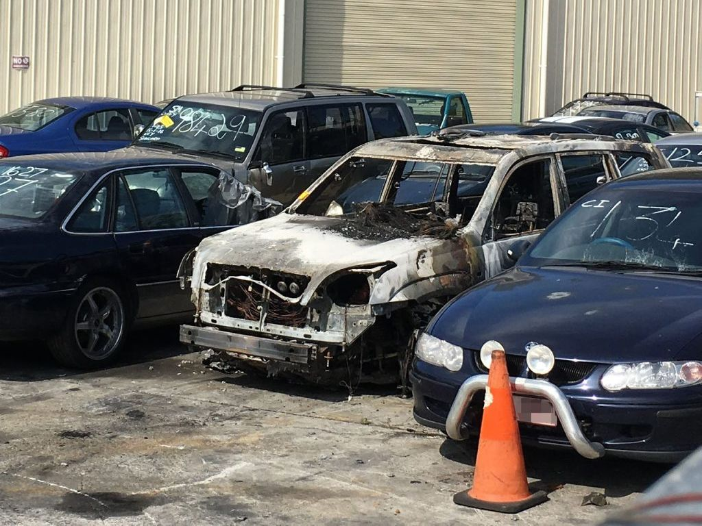 ARSON CHARGES: The car allegedly stolen during the home invasion was later found burnt out near Grandchester.