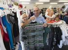 St Vincent de Paul Society state president John Forrest and Toowoomba Ruthven and Long St Vinnies shop volunteer of three years Rhonda Hampson, Friday, March 4, 2016.