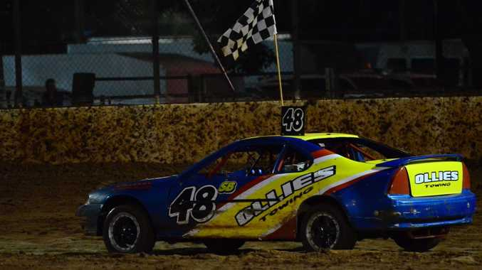 BACK ON TOP: Ben Stead won his first feature since he recovered from his back injury.Photo Keagan Elder / South Burnett Times