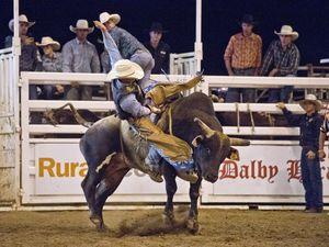 PBR Bull ride in Dalby