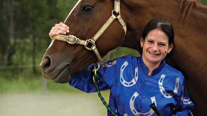 FRISKY: Retired race horse, Jazzy, needed Kelly Gates' calming touch.