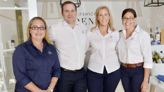ALL SMILES: Opening of Ipswich Ctiy Dental. Pictured is Cynthia Schoenfisch, Aaron Jones, Erin Jones and Sarah Moore.