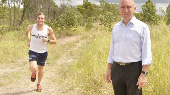 VISION: Jim Dodrill wants to see an athletics track built at the Bailey Street Reserve.