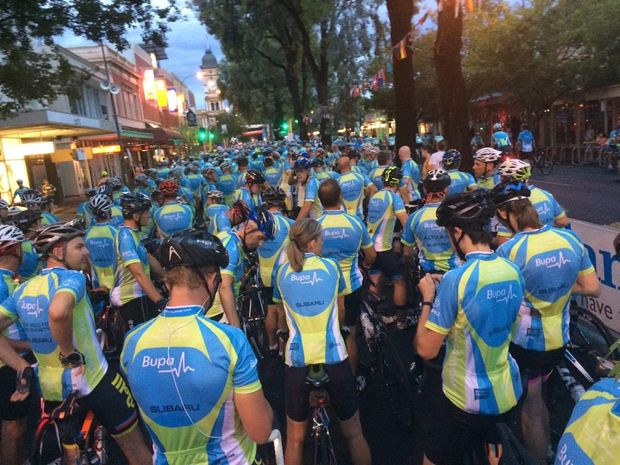 Norwood start line at the 2016 Bupa Challenge Tour. Photo: Iain Curry