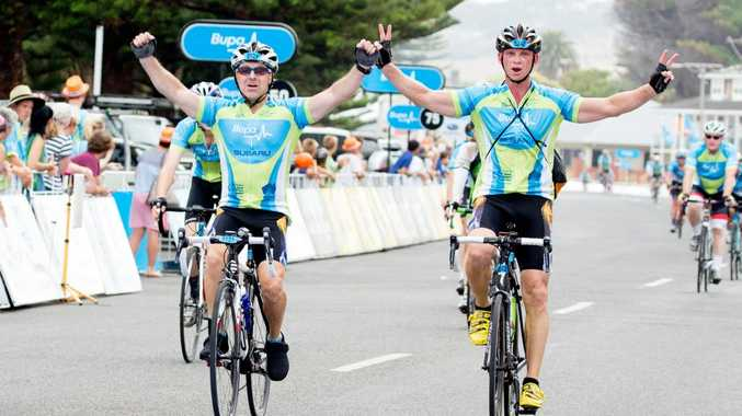 STRONG FINISH: As part of South Australia's Tour Down Under, amateur cyclists get to tackle the hardest stage ahead of the pro riders. Iain Curry dons the lycra...