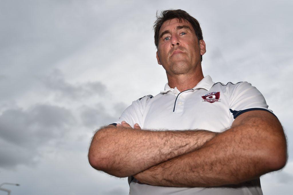 AFL Queensland (AFLQ) Female High Performance Coach Craig Starcevich. Former Collingwood premiership player and Brisbane Lion. He played 144 AFL games. Photo Matthew McInerney / Fraser Coast Chronicle
