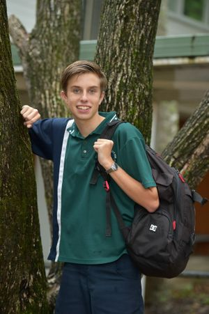 Sam Bouzanquet from Noosa State High School has started a LGBTI group at school. Photo: Warren Lynam / Sunshine Coast Daily