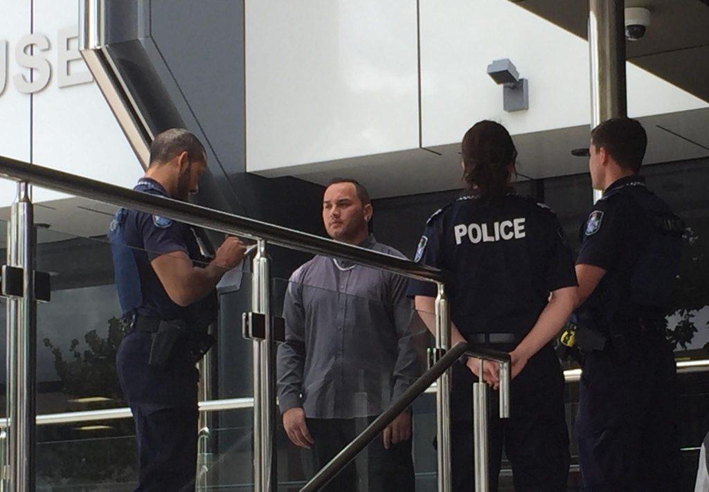 Stabbing victim Chalmers Maeva outside court. Photo courtesy WIN News Toowoomba