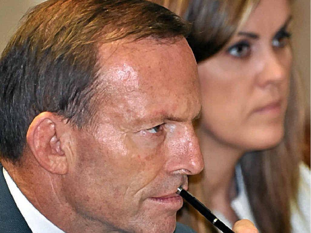 OUSTED: Tony Abbott and Peta Credlin.