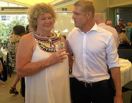 Elizabeth Osborne and son Mick Fanning at the Tweed Coast Women's Awards, Salt, Kingscliff.
