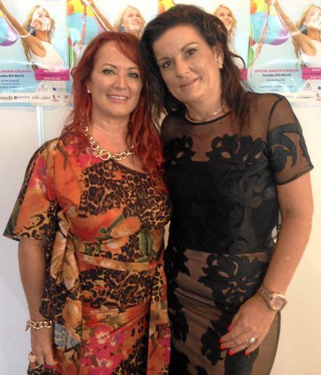 Nikki Auton with business partner Denise Belcher at the Tweed Coast Women's Awards, Salt, Kingscliff.