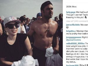 Lady Gaga dives into icy water for Polar Bear Plunge