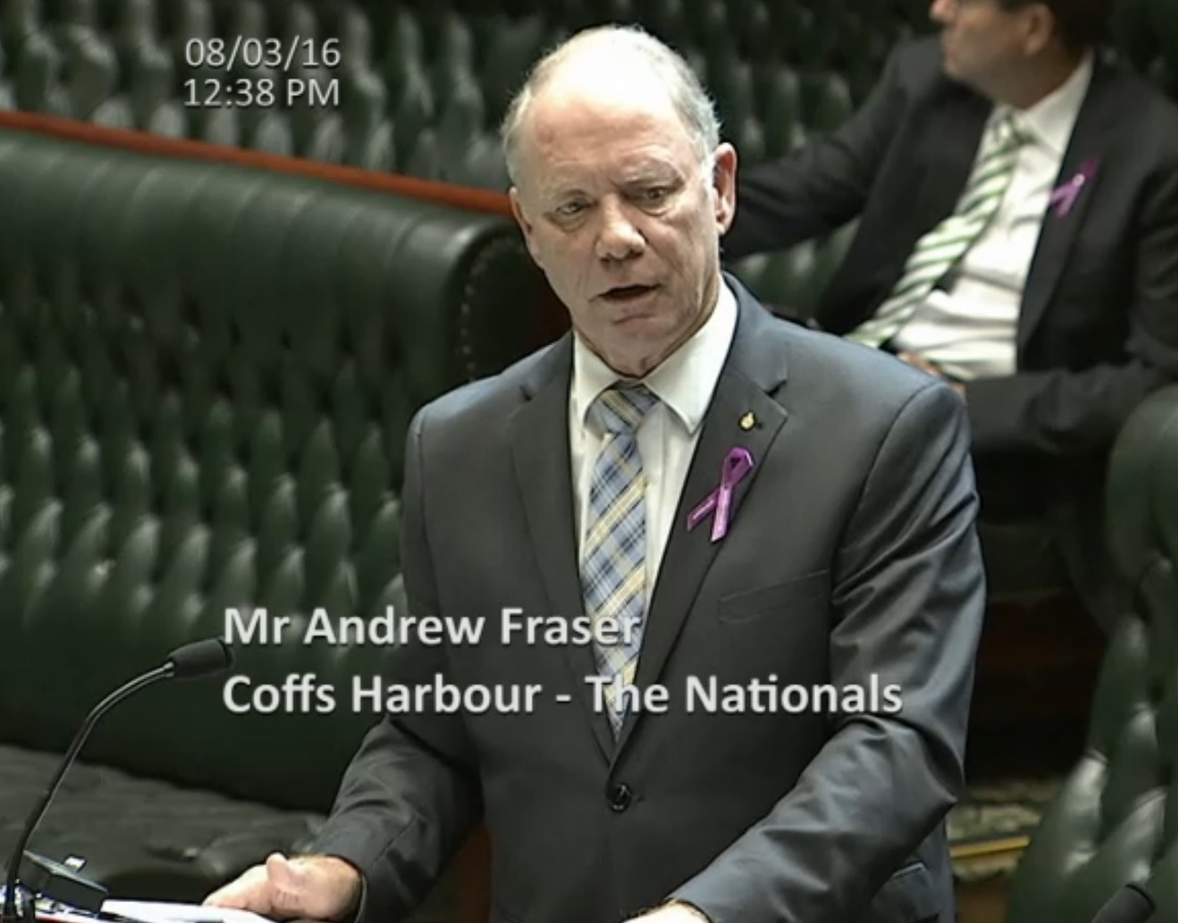 Coffs Harbour MP Andrew Fraser calls for an investigation into Wundarra Services during Tuesday's Legislative Assembly House sitting in NSW Parliament.
