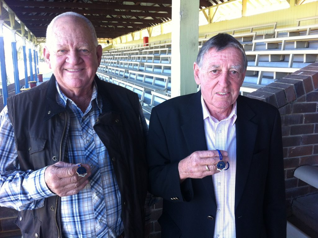 Darryl Taylor and Bede Murray were made life members of Clarence River Jockey Club. Photo Bill North / Daily Examiner