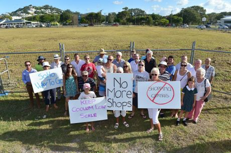 A developer and local Coolum residents are frustrated council says no to plans to develop something because its not big enough. Supporters of the smaller develment plan at the proposed site. Photo: Che Chapman / Sunshine Coast Daily