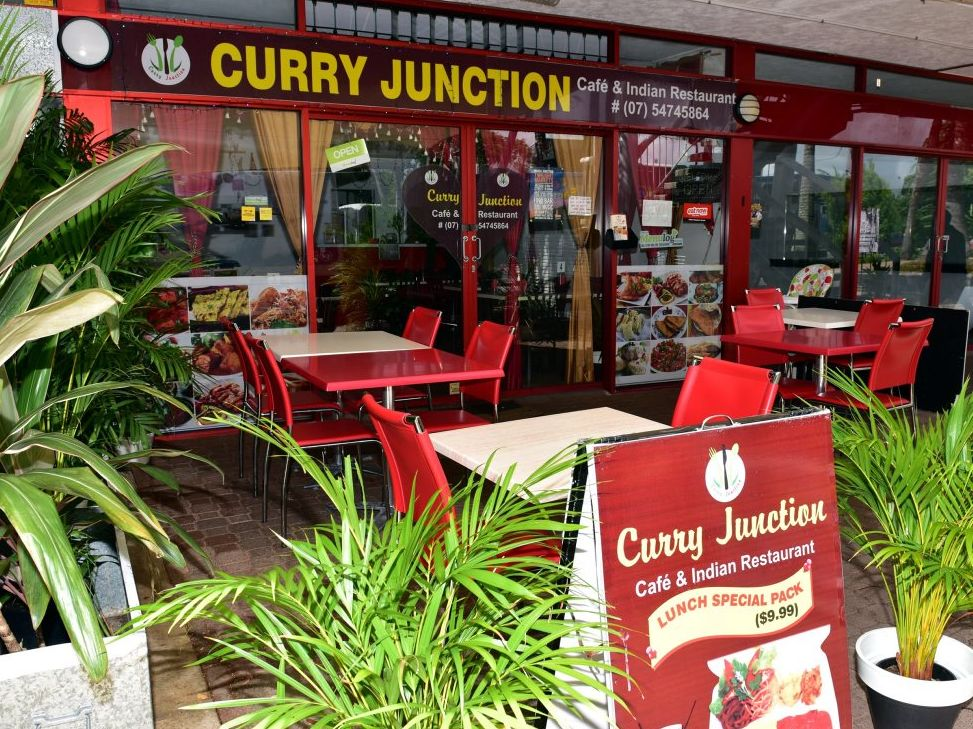 The owner of an Indian restuarant in Noosa Junction was allegedly assaulted while in front of his Arcadia St store.