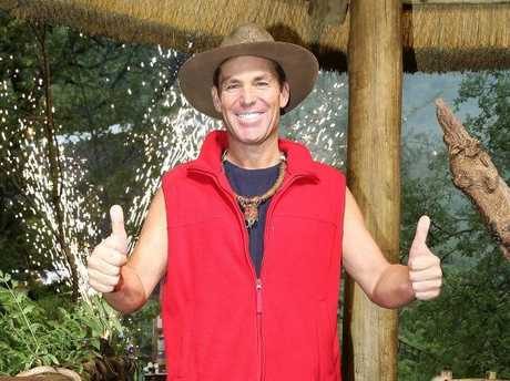 Shane Warne pictured after his elimination from I'm A Celebrity... Get Me Out of Here!