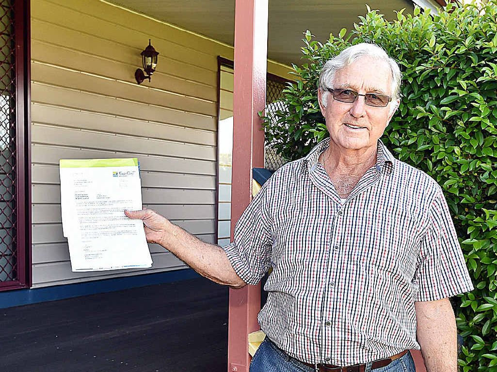 RATES FIGHT: Property owner Bill Manning is battling council to claim years of unpaid rates.