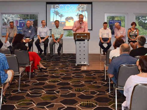 SPEAKING UP: The Livingstone Shire Council candidates forum was held on Monday night at the Strand Hotel hosted by Our Keppel Our Future and Shop 4703. Cr Graham Scott was the first to present on the night.
