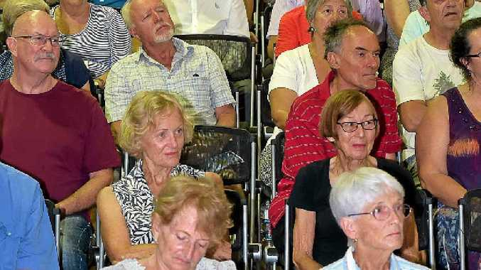 FULL HOUSE: THE election forum at Coolum attracted massive crowds.