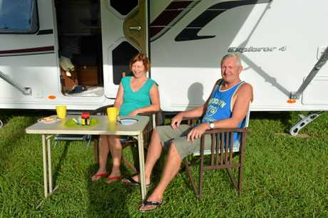 ECONOMY BOOSTERS: Sharyn and Robin Hancox enjoy the scenery at Murwillumbah Showgrounds.
