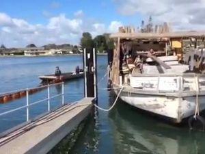 Trawler takes on water in Yamba Marina